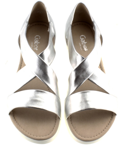 Silver Gabor sandals from After 8 Shoes