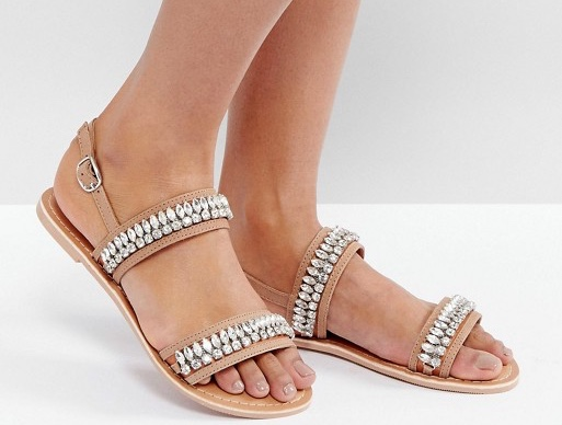 Jewelled sandals from ASOS