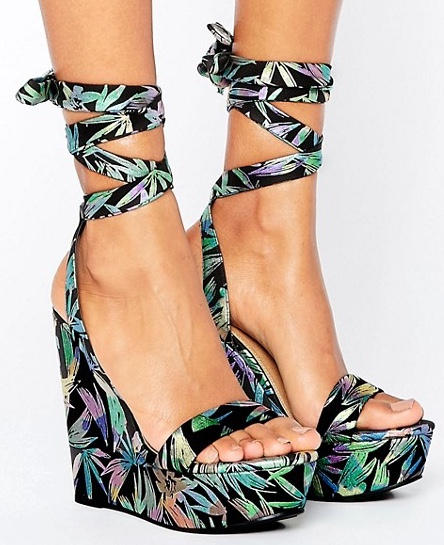 ASOS tropical wedges