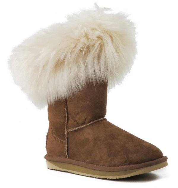 Foxy Shearling boots from Cinderella Shoes