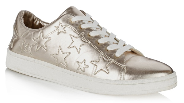 Metallic star trainers from Long Tall Sally