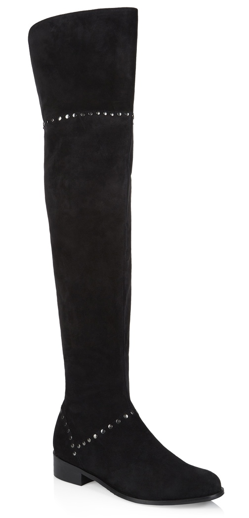 Sophie Studded Over Knee Boots from Long Tall Sally