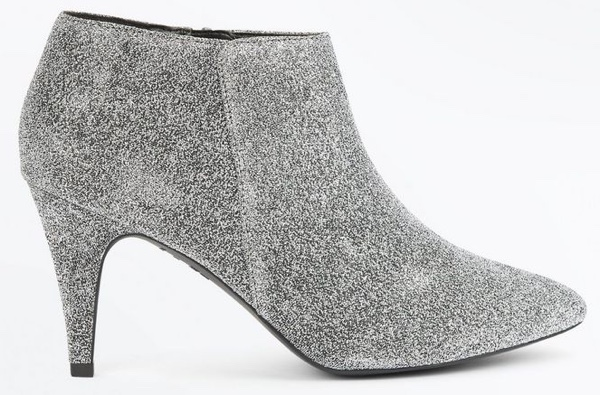Silver glitter boots from New Look
