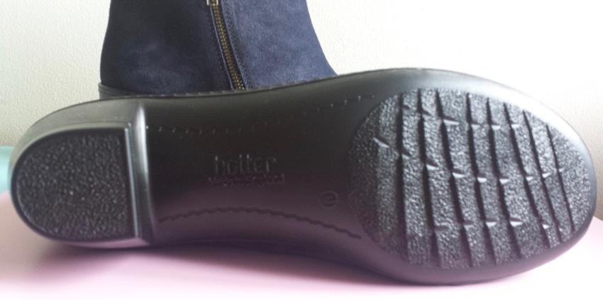 Sole of Hotter Samia ankle boots