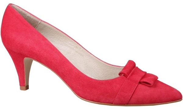 Red suede courts from Tall Girls