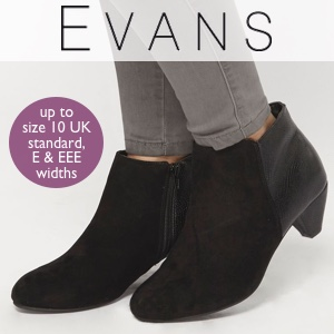 Evans footwear up to size 10 UK